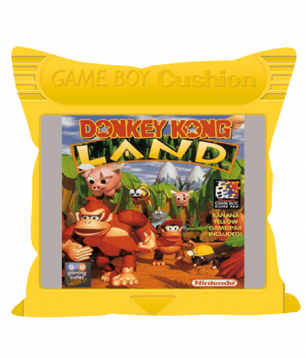 "Cartridge Series 12"" Sofa Cushion Inspired by Game Boy Donkey Kong Land Yellow"